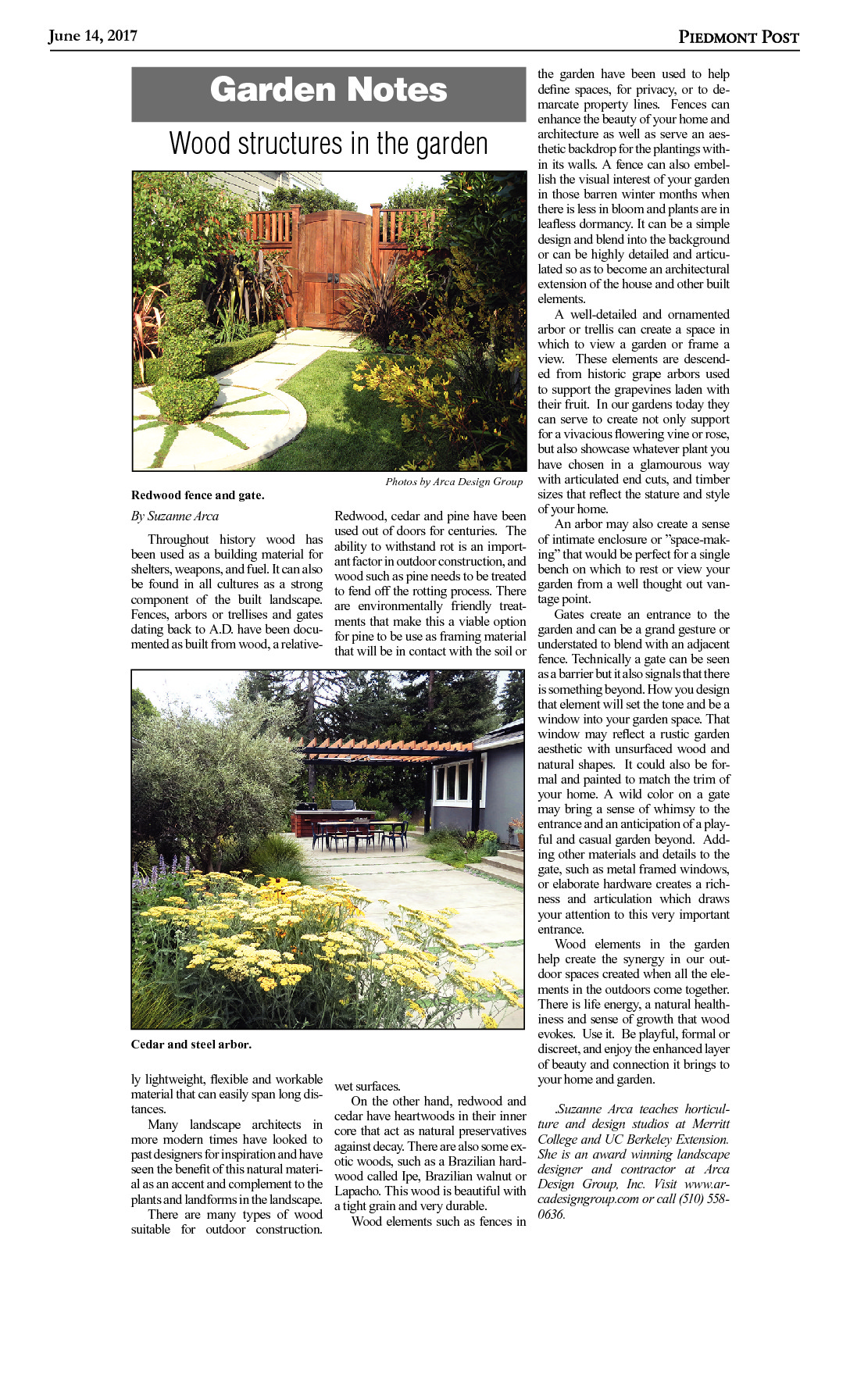 Wood Structures In The Garden Arca Design Group
